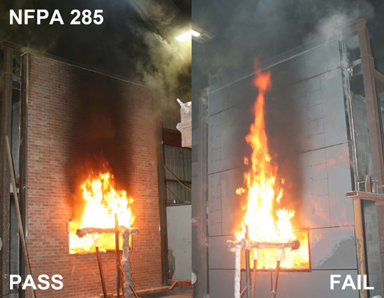 Dealing with nfpa 285 payette for Room design method nfpa 13