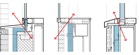 Thermal bridging research window transitions payette for Thermal windows
